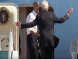 'Let's Go!' Obama Urges Bill Clinton To Board Air Force One