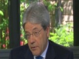 Italian Prime Minister Gentiloni On US-Italy Relationship