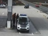 Look Out! Out-of-control Car Nearly Kills Cop At Gas Station
