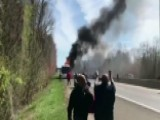 Dr. Oz Helps Students Escape A Raging Bus Fire