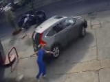 Raw Video: Car Stolen From Gas Station In New Orleans