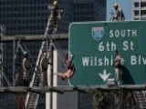Man In Underwear Backflips Off Highway Sign In Los Angeles