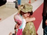 Army Captain Surprises Daughters After Year In Iraq