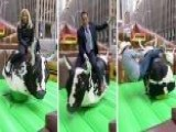 'Fox & Friends' Hosts Ride A Mechanical Bull With The Help Of 2018 PBR Rookie Of The Year Keyshawn Whitehorse