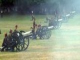 41 Gun Salute, Bells Ring At Westminster Abbey