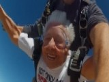 90-year-old Grandma Skydives To Honor Veteran Husband