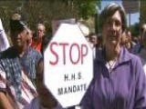 Angry Protesters Rally Against Federal Contraception Mandate