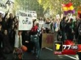 Around The World: Students March In Madrid