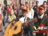 Around The World: Mariachi Musicians March In Mexico