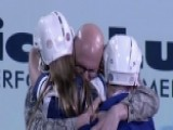 Air Force Dad Surprises Kids At Hockey Game