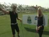 Ainsley Earhardt Joins Tim Tebow On The Golf Course