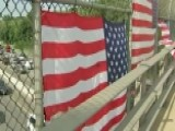 American Flags Hung On Massachusetts Overpasses Destroyed