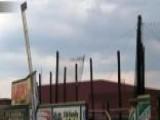 Baseball Stadium Damaged By Storm