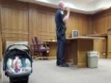 Baby Mimics Dad Taking Oath In Office