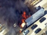 Brush Fire Engulfs California Highway, Sets Cars Ablaze