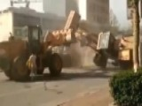 Bulldozers Battle In China As Construction Workers Clash