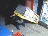 Beer Fridge Falls On Bumbling Burglar