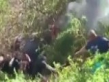 Bystanders Form Human Chain To Save Driver From Burning Car