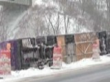 Bus Packed With Students Flips On Icy Road In New York