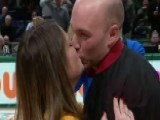 Boyfriend Proposes After Woman Sinks Half-court Shot