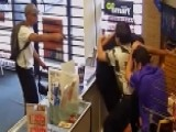 Business Owner Fights Off, Pushes Armed Robber Out Of Store
