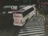 Bus Plows Through Intersection, Crashes With Another Bus