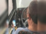 Bus Driver Caught Watching Videos On His Phone While Driving