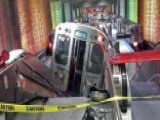 Commuter Train Derails At O'Hare Airport, Injuring Dozens