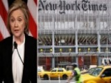 Clinton Campaign Hits Back At The New York Times