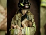 Critics Slam Mother For Breastfeeding In Firefighter Uniform