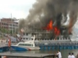 Cruise Ship Passengers Jump For Their Lives To Escape Blaze