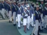 Cadet Caught Checking Phone During Graduation March
