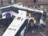 Commuter Buses Collide In Newark, New Jersey