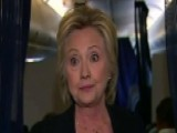Clinton Holds Impromptu News Conference On Campaign Jet