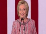 Clinton: Great To Be Back On The Campaign Trail