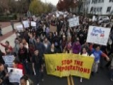 College Students Stage Walkouts To Protest President-elect