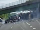 Camper Crash: RV Swerves Into Traffic, Flips On Highway