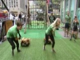 Carley Shimkus, Adam Klotz Take The Green Beret Challenge
