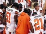 Cleveland Browns Players Kneel During National Anthem