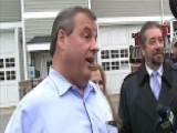 Christie Argues With A Voter At A Polling Station
