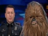 Chewbacca Helps Recruit At Fort Worth Police Department