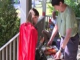 Community Celebrates Halloween In June For Cancer Patient