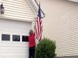 Dying Vet Cannot Fly Flag Outside Home