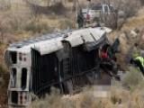 Deadly Crash: Prison Bus Skids Off Bridge, Slams Into Train