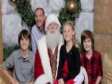 Deployed Dad Surprises Kids By Photobombing Santa Picture