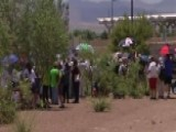 Demonstrators Protest At Migrant Detention Facility