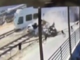 Deadly Collision Between Car And Train Caught On Camera