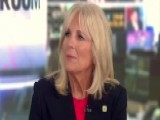 Dr. Jill Biden Joins Veterans Walking Across The Country