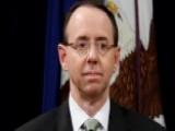 Deputy Attorney General Rosenstein Headed To The White House