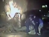 Exclusive: Texas Cops Pull Man From Burning Car